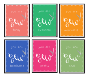 """""""Sew"""" Gift Tags"""