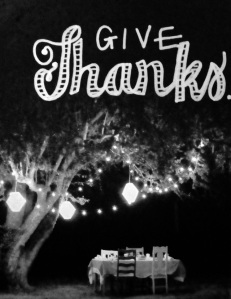 Give thanks - white